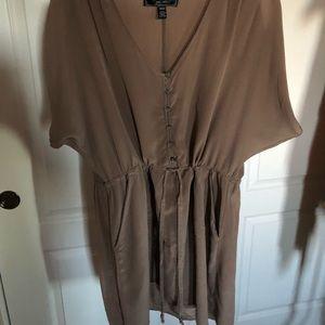Dresses & Skirts - Ladies button up silk dress with drawstring waist